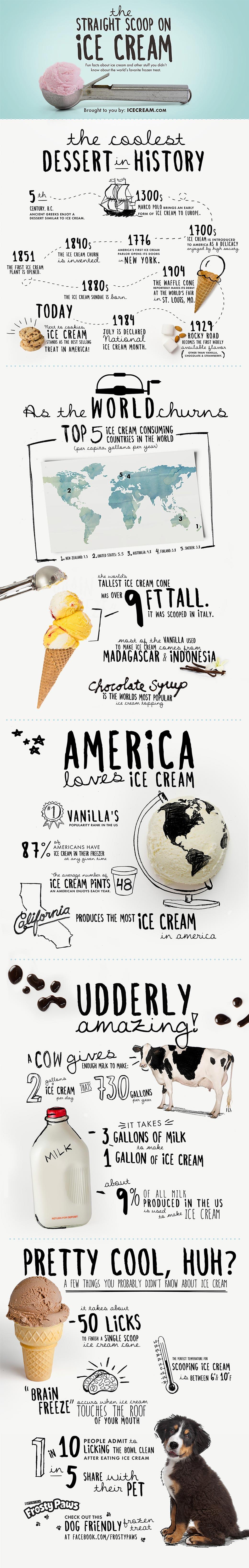 Ice cream infographic